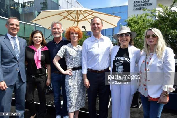 Mayor of Los Angeles Eric Garcetti Anita May Rosenstein David Bailey Kathy Griffin Representative Adam Schiff Lily Tomlin and Ariadne Getty attend...