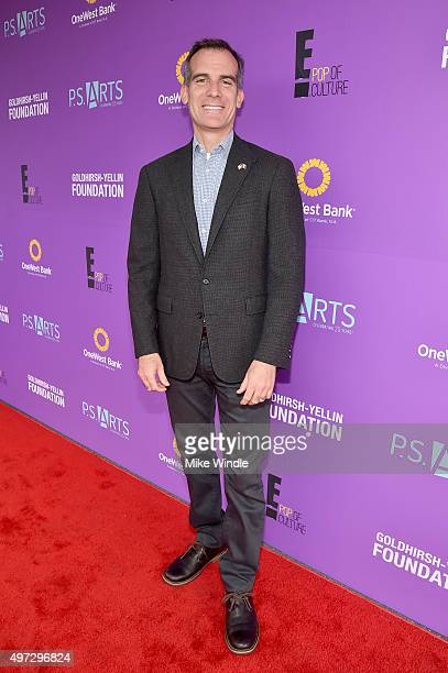 Mayor of Los Angeles Eric Garcetti attends Express Yourself 2015 to benefit PS ARTS providing arts education to 25000 public school students each...