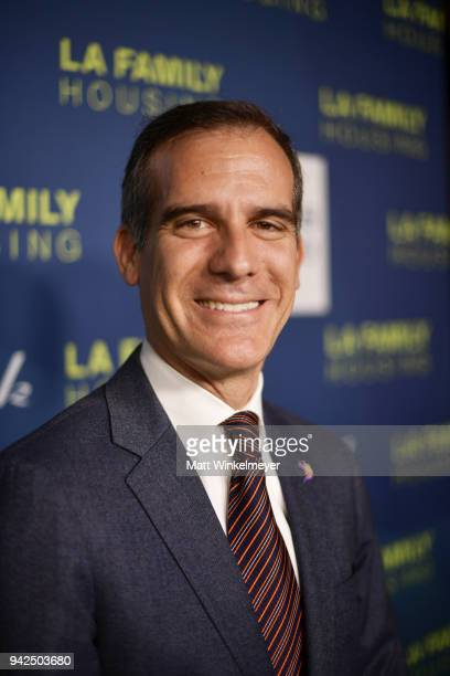 Mayor of Los Angeles Eric Garcetti attends the 2018 LA Family Housing Awards at The Lot in West Hollywood on April 5 2018 in West Hollywood California