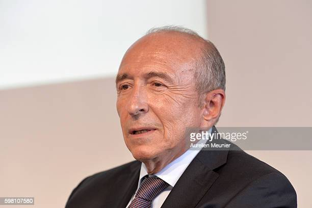 Mayor of Lyon Gerard Collomb attends the Medef summer University conference on August 31 2016 in JouyenJosas France The Medef summer University...