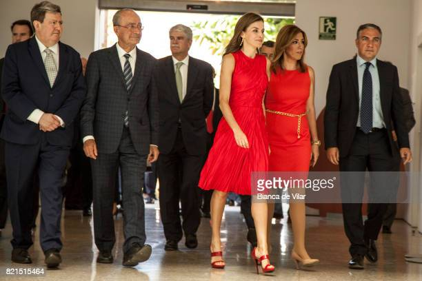 Mayor of Malaga Francisco de la Torre Spain's Ministry of foreign affairs Alfonso Dastis Queen Letizia of Spain and President of Andalucia Region...