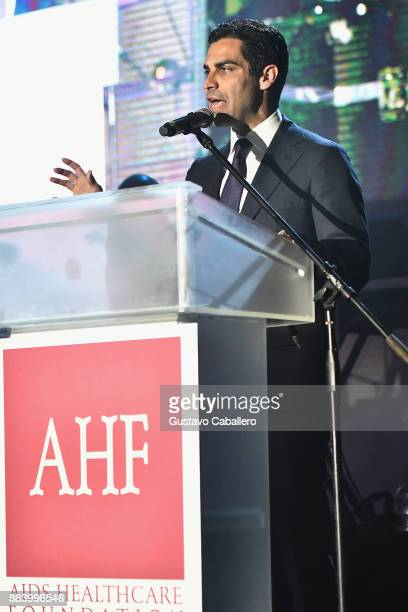 Mayor of Miami Francis Suarez speaks at the AHF World AIDS Day Concert on December 1 2017 in Miami Florida
