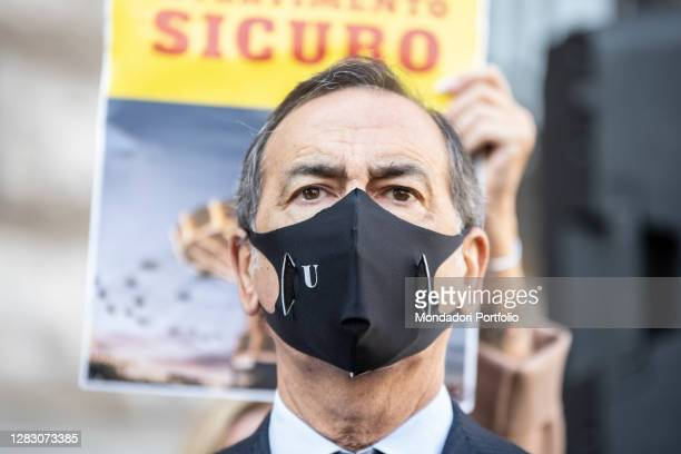 Mayor of Milan Beppe Sala during the rally organized by show business workers in Piazza della Scala to give life to the L'assenza Spectacular...