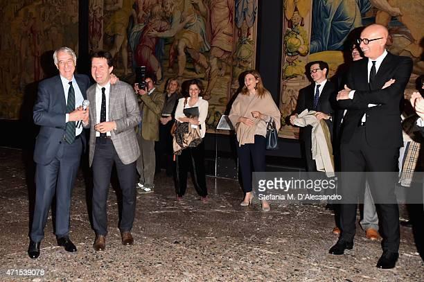 Mayor of Milan Giuliano Pisapia Mayor of Florence Dario Nardella and Gucci President and CEO Marco Bizzarri attend the 'Il Principe dei Sogni'...