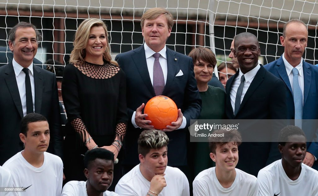 Italian Football Federation Welcomes Dutch Royals : Nieuwsfoto's