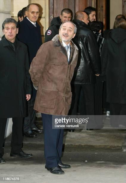 Mayor of Modena Giuliano Barbolini during Luciano Pavarotti Marries Nicoletta Mantovani at Teatro Comunale in Modena in Modena Italy