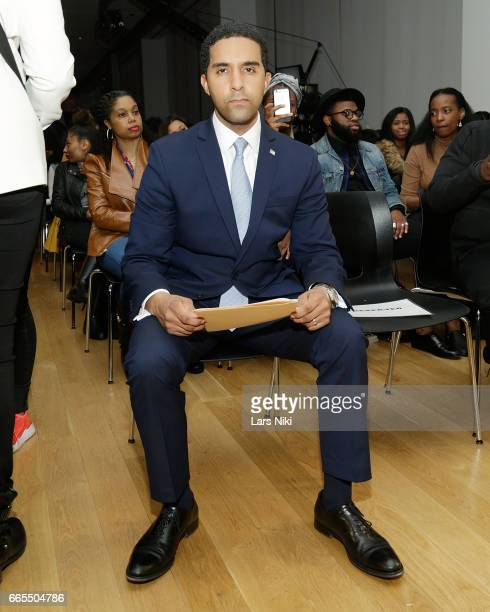 Mayor of Mount Vernon NY Richard Thomas attends the BET Music Presents Us Or Else panel discussion at the Viacom White Box Hall on April 6 2017 in...