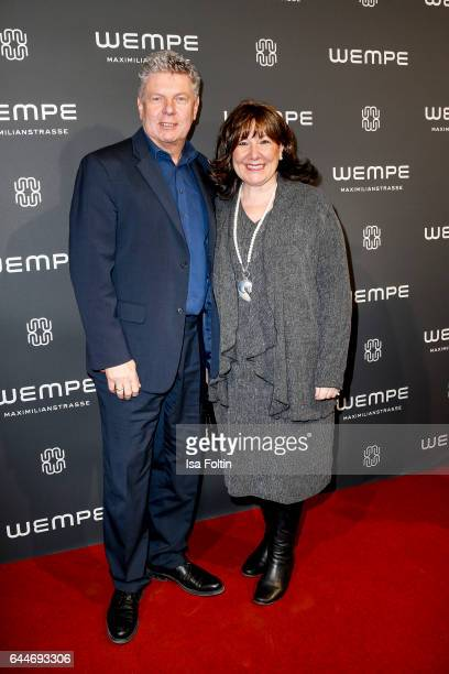 Mayor of Munich Dieter Reiter and his wife Petra Reiter attend the Wempe store opening with the Rolls Royce shuttels in front of the store on...