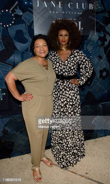 Mayor of New Orleans LaToya Cantrell and model Iman attends The Jane Club private dinner at Melrose Mansion on July 06 2019 in New Orleans Louisiana
