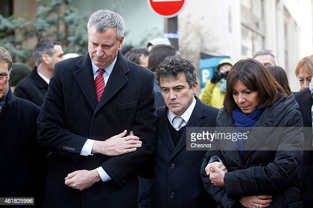 Mayor of New York Bill de Blasio French doctor and contributor to French satirical magazine Charlie Hebdo Patrick Pelloux and Mayor of Paris Anne...