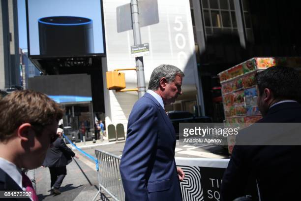 Mayor of New York Bill De Blasio hold a press conference along with New York Police Commissioner James P O'Neill after a car plowed into pedestrians...