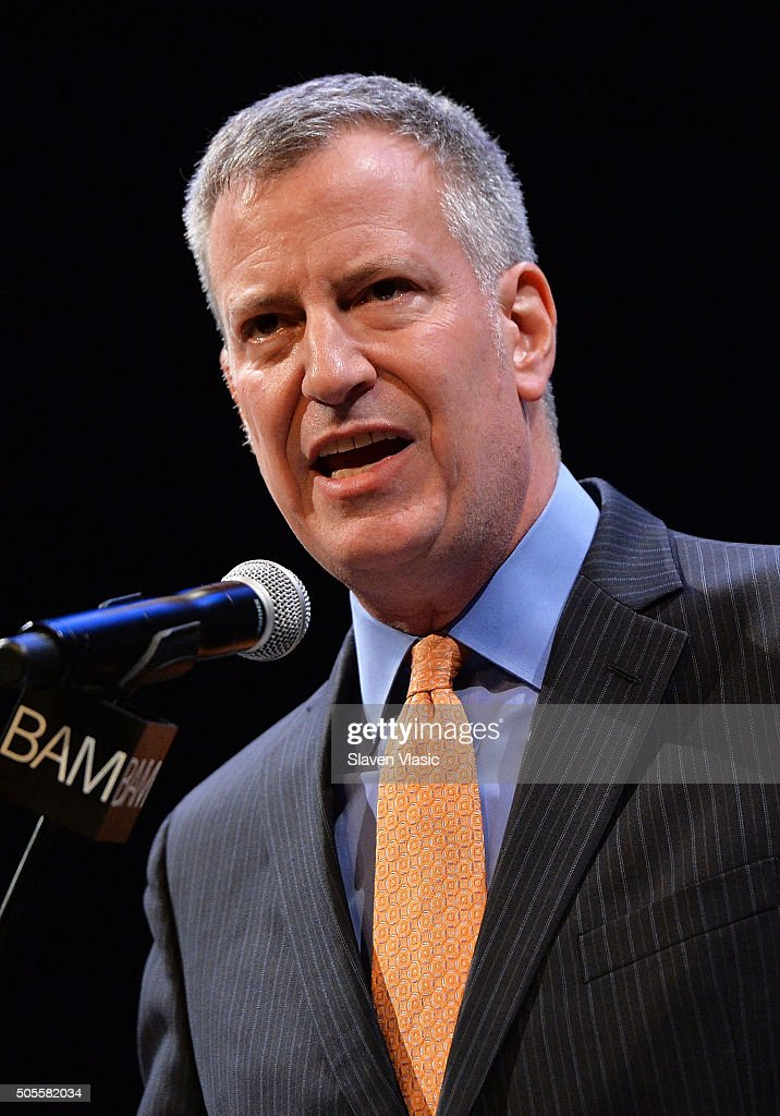 Mayor of New York City Bill De Blasio attends BAM's 30th Annual Tribute To Dr. Martin Luther King, Jr. at BAM Howard Gilman Opera House on January 18, 2016 in New York City.