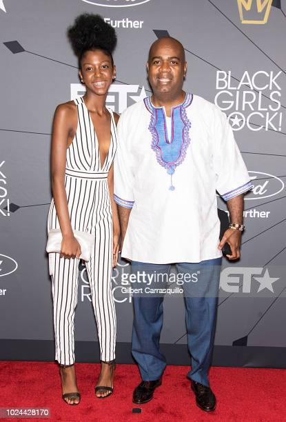 Mayor of Newark Ras Baraka and guest attend 2018 Black Girls Rock at New Jersey Performing Arts Center on August 26 2018 in Newark New Jersey