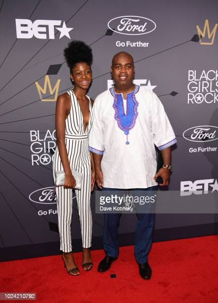 Mayor of Newark Ras Baraka and guest attend the Black Girls Rock 2018 Red Carpet at NJPAC on August 26 2018 in Newark New Jersey