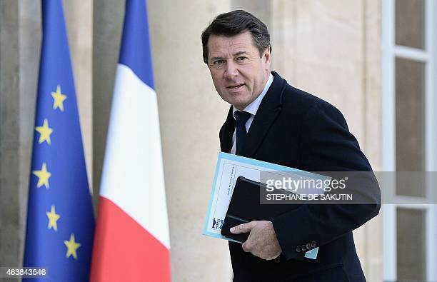 Mayor of Nice Christian Estrosi President of Nice Metropole member of the UMP rightwing party arrives for a meeting at the Elysee presidential Palace...