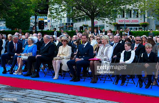 Mayor of Oslo Fabian Stang of Norway Princess Astrid of Norway King Harald of Norway Queen Sonja of Norway Crown Prince Haakon of Norway Crown...