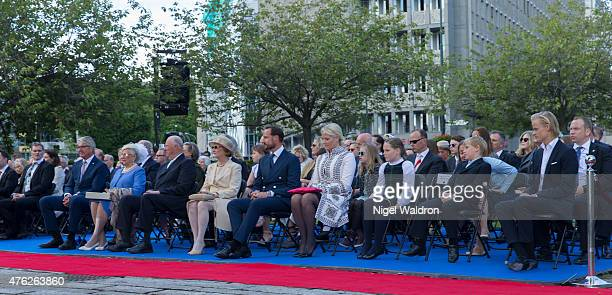 Mayor of Oslo Fabian Stang of Norway Princess Astrid of Norway King Harald of Norway Queen Sonja of Norway Crown Prince Haakon of Norway Crown...