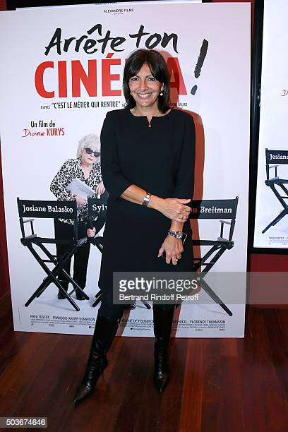 Mayor of Paris Anne Hidalgo attends the 'Arrete Ton Cinema ' Paris Premiere at Publicis Champs Elysees on January 6 2016 in Paris France