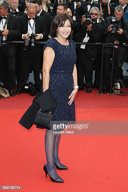 Mayor of Paris Anne Hidalgo attends the 'Cafe Society' premiere and the Opening Night Gala during the 69th annual Cannes Film Festival on May 11 2016...