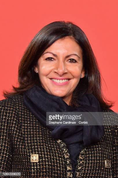 Mayor of Paris Anne Hidalgo attends the Christmas Lights Launch On The Champs Elysees on November 22 2018 in Paris France