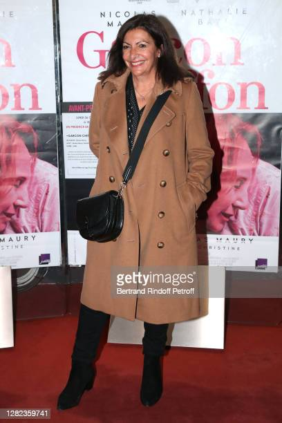 "Mayor of Paris Anne Hidalgo attends the ""Garçon Chiffon"" premiere at UGC Les Halles on October 26, 2020 in Paris, France."