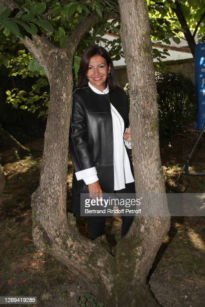 Mayor of Paris Anne Hidalgo attends the Jury Photocall of the 13th Angouleme French-Speaking Film Festival on August 28, 2020 in Angouleme, France.