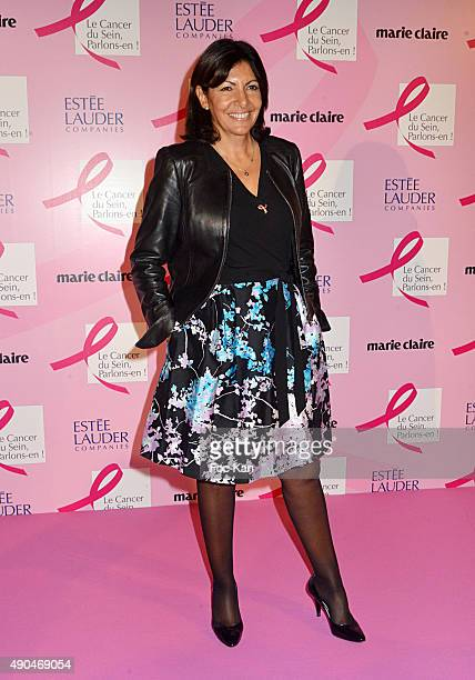 Mayor of Paris Anne Hidalgo attends the 'Octobre Rose 2015' Party To Benefit Breast Cancer Research hosted by Estee Lauder At the Palais National De...