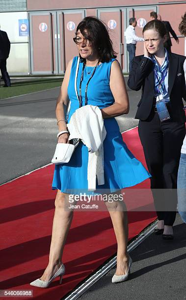 Mayor of Paris Anne Hidalgo attends the UEFA Euro 2016 final match between Portugal and France at Stade de France on July 10 2016 in SaintDenis near...