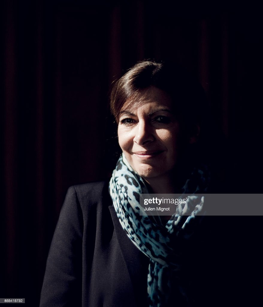 Mayor of Paris Anne Hidalgo is photographed for Le Monde on April 11, 2014 in Paris, France.