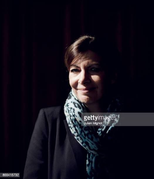 Mayor of Paris Anne Hidalgo is photographed for Le Monde on April 11 2014 in Paris France