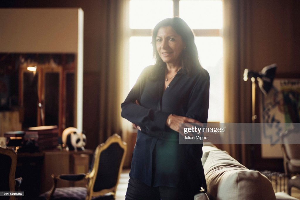 Mayor of Paris Anne Hidalgo is photographed for L'OBS on October 4, 2017 in Paris, France.