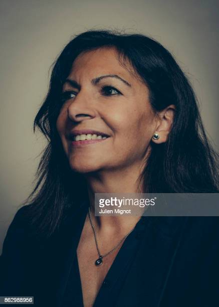 Mayor of Paris Anne Hidalgo is photographed for L'OBS on October 4 2017 in Paris France