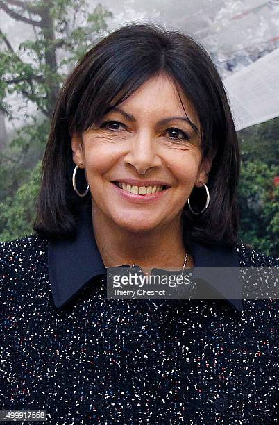 Mayor of Paris Anne Hidalgo poses during the Summit of Local elected for Climate at the Paris city hall on December 04 2015 in Paris France Thousand...
