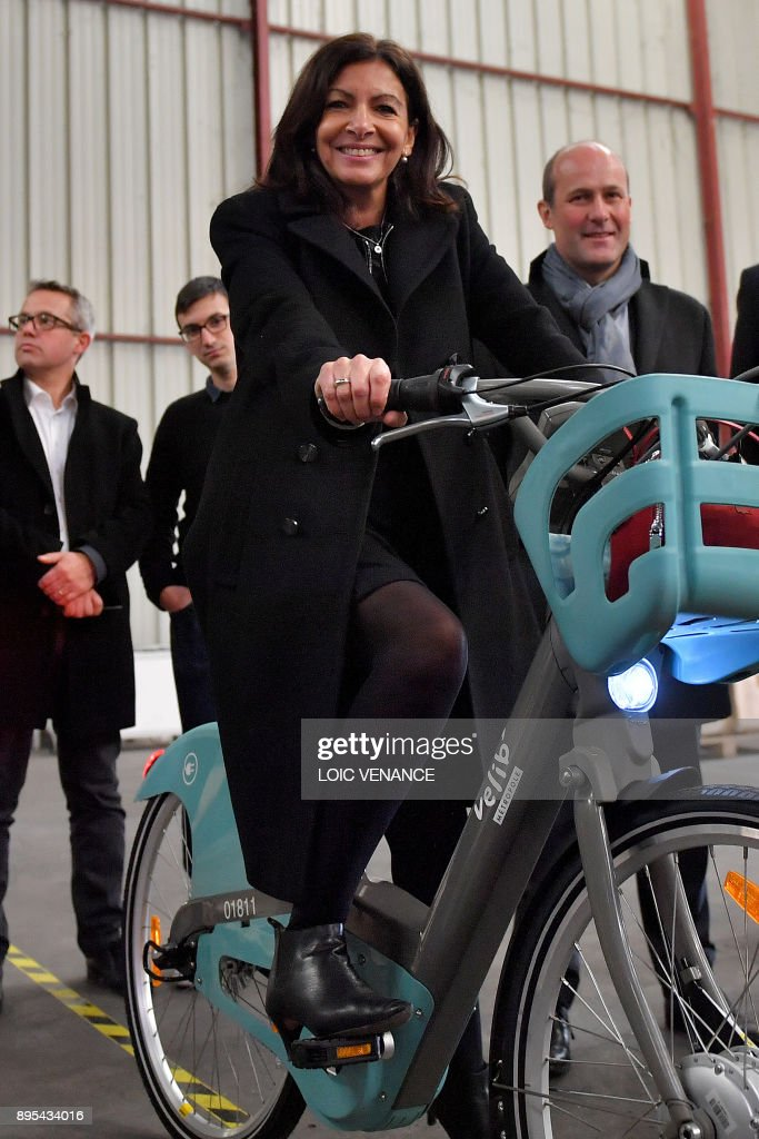 Image result for Anne Hidalgo on a bicycle