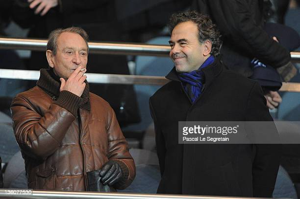 Mayor of Paris Bertrand Delanoe and French Minister of National Education Luc Chatel attend Ligue 1 match, Paris Saint-Germain FC v LOSC Lille...