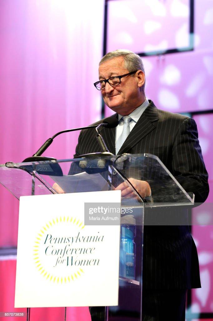 Mayor of Philadelphia Jim Kenney speaks during Pennsylvania Conference For Women 2017 at Pennsylvania Convention Center on October 3, 2017 in Philadelphia, Pennsylvania.