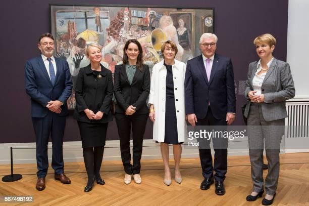 Mayor of Potsdam Jann Jakobs museum director Ortrud Westheider Stefanie Plattner the German Presidents's wife Elke Buedenbender German President...
