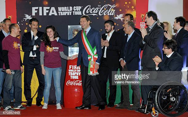 Mayor of Rome Ignazio Marino during day one of the FIFA World Cup Trophy Tour on February 19 2014 in Rome Italy