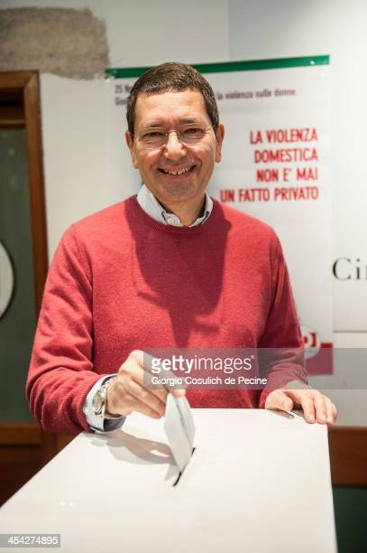 Mayor of Rome Ignazio Marino votes during the PD primary elections on December 8 2013 in Rome Italy Italians are voting today to elect the new leader...