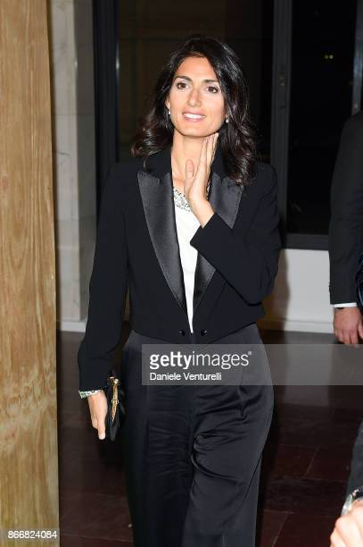 Mayor of Rome Virginia Raggi attends 'Fendi Studios' exhibition opening night during the 12th Rome Film Fest at Palazzo Della Civilta' Italiana on...