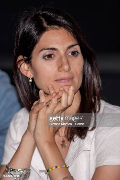 Mayor of Rome Virginia Raggi attends 'Planetary Rome' presentation an initiative of Roma capitale to promote scientific culture that with an advanced...