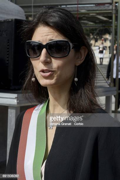 Mayor of Rome Virginia Raggi during the celebration of the 71st anniversary of the Italian Republic on June 2 2017 in Rome Italy