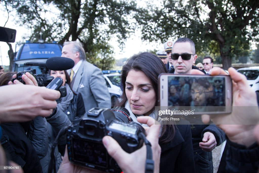 Mayor of Rome Virginia Raggi during the press conference of... : News Photo