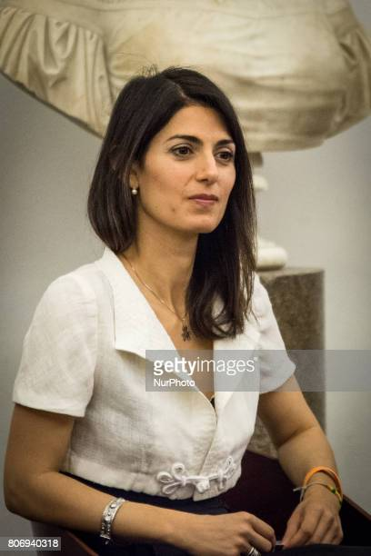 Mayor of Rome Virginia Raggi presentation to the press 'Rome Half Marathon Via Pacis' event promoted by Roma Capitale and the Pontifical Council for...
