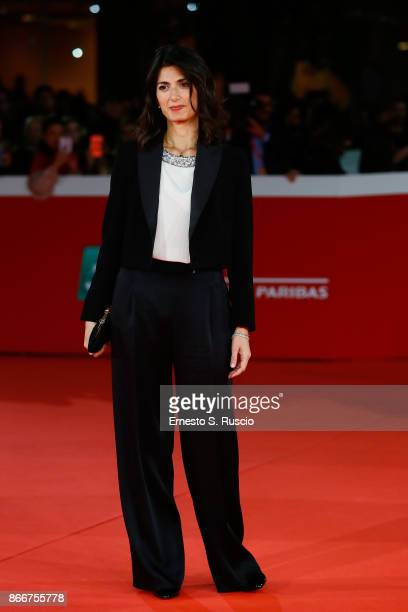 Mayor of Rome Virginia Raggi walks a red carpet for 'Hostiles' during the 12th Rome Film Fest at Auditorium Parco Della Musica on October 26 2017 in...