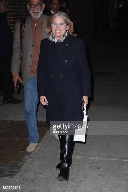 Mayor of San Juan Puerto Rico Carmen Yulin Cruz departs the Ed Sullivan Theater after her taping of 'The Late Show With Stephen Colbert' on November...
