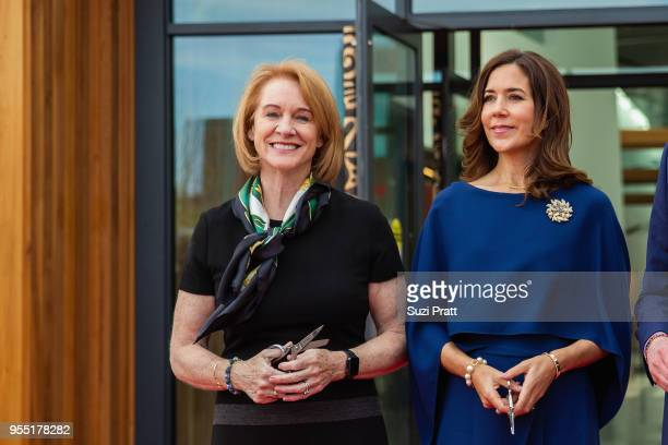 Mayor of Seattle Jenny Durkan and Her Royal Highness the Crown Princess Mary of Denmark pose for a photo at the Nordic Museum on May 5 2018 in...