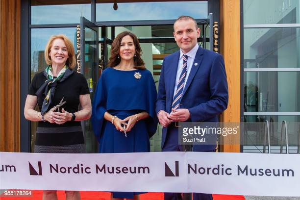 Mayor of Seattle Jenny Durkan Her Royal Highness the Crown Princess Mary of Denmark and President of Iceland Gudni Th Johannesson pose for a photo at...