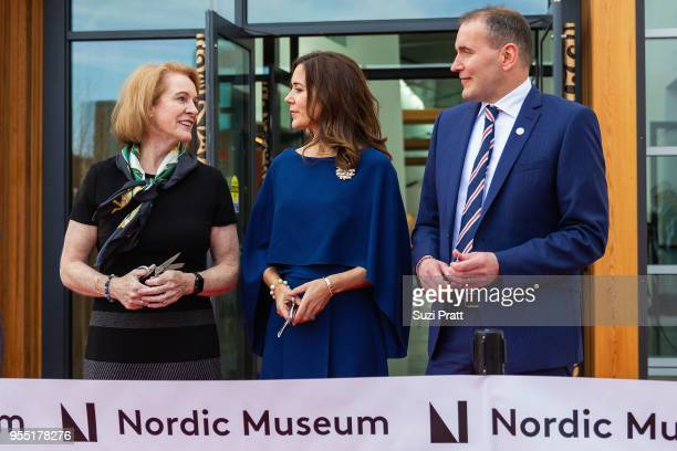 Mayor of Seattle Jenny Durkan Her Royal Highness the Crown Princess Mary of Denmark and President of Iceland Gudni Th Johannesson speak at the Nordic...