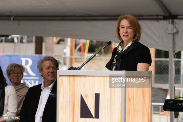 Mayor of Seattle Jenny Durkan speaks at the Nordic Museum on May 5 2018 in Seattle Washington